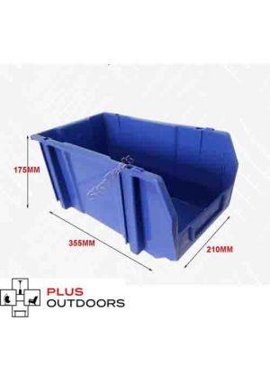 Blue Plastic Stackable Space Saving Storage Bin PK008