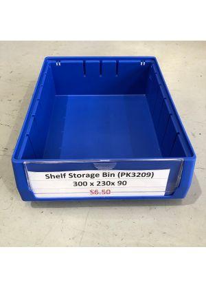 Blue Plastic Stackable Space Saving Storage Bin PK3209
