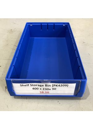 Blue Plastic Stackable Space Saving Storage Bin PK4209