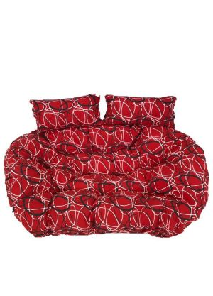 Double Pod Chair Cushion - Red Oval