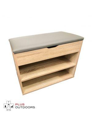 Cabinet Shoes Shoe Bench Wooden Box Organiser Storage Rack Shelf - T