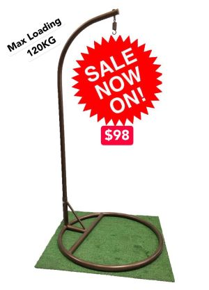 Swinging Chair Pole and Base-Straight