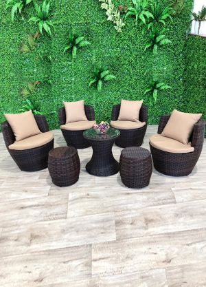 London Stackable Lounge Set-7 Piece Setting