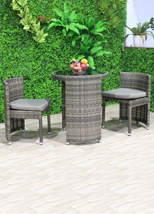 Terrace 3 piece Outdoor Circular Dining-Natural