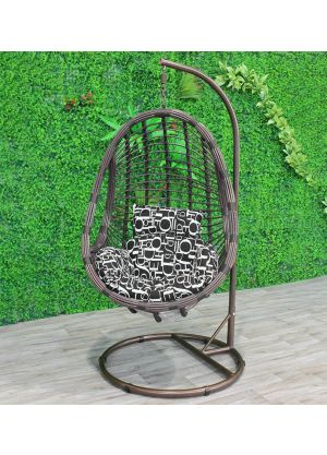 Fleming Tubbed Egg Chair-Brown #68