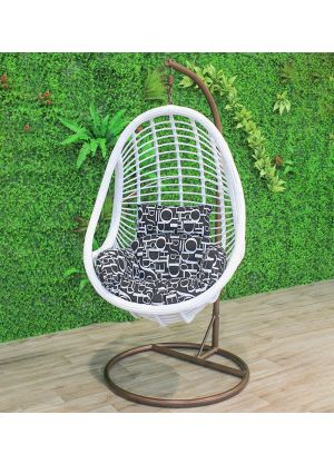 Fleming Tubbed Egg Chair-White #68