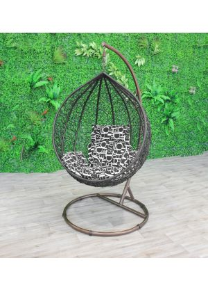 Sphere Bird Nest Egg Chair-Black #85