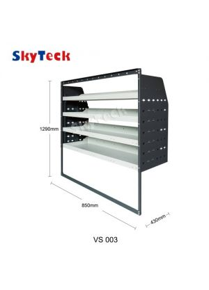 Van shelving Guard 4 Shelf Trays Steel Racking Storage VS003
