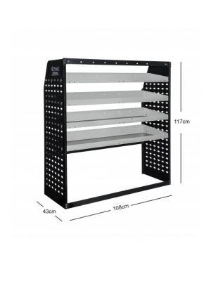 Van shelving Guard 4 Shelf Trays Steel Racking Storage VS004