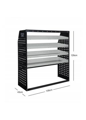 Van shelving Guard 4 Shelf Trays Steel Racking Storage VS006