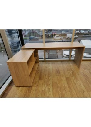 Brand New Simple L Shaped Corner Computer Desk-Brown