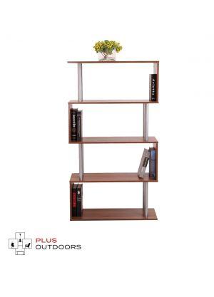 Wooden S Shape Lounge Storage Display Unit Bookcase Bookshelf