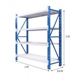 2M Shelving 2M x 0.6M x 2M Blue/Grey