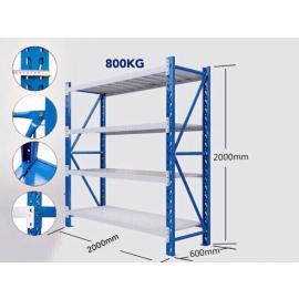 2M Shelving 2M x 0.6M x 2M Blue/Grey