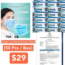 50pcs per box - FREE DELIVERY (Single Use Medical Face Mask)