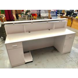 Brand New White Reception Desk Counter 2M